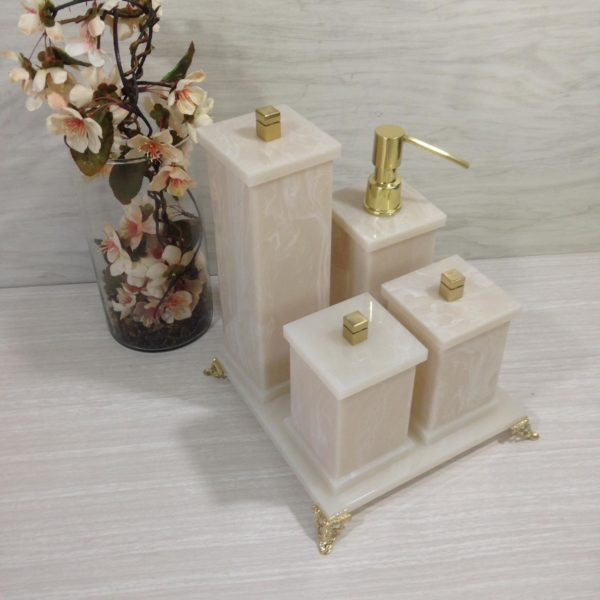 Kit 5 peças Decor Duo  Gold
